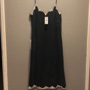 Black Banana Republic spaghetti strap dress.